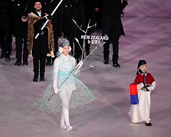 February 9, 2018 - PyeongChang, South Korea - The New Zealand team marches in, led by flag bearer BEAU-JAMES WELLS during the Opening Ceremony for the 2018 Pyeongchang Winter Olympic Games, held at PyeongChang Olympic Stadium. (Credit Image: © Scott Mc Kiernan via ZUMA Wire)