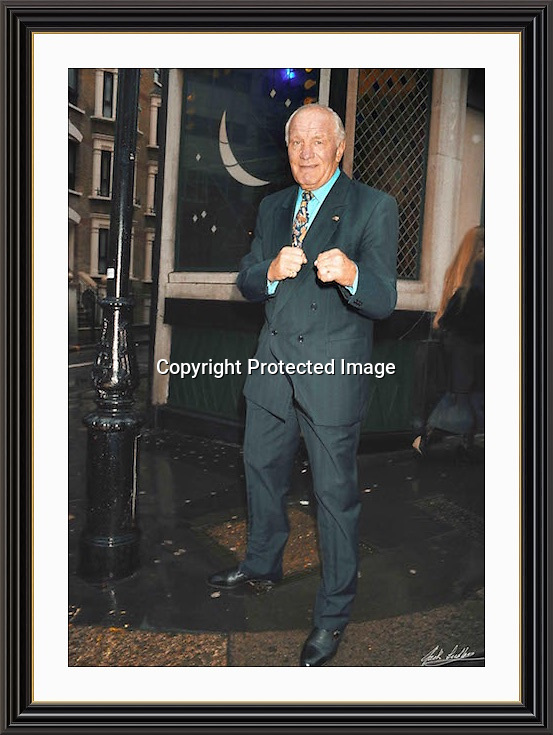 Henry Cooper outside the Ivy 1995 Museum-quality Archival signed Framed Print