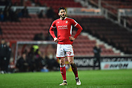 Oliver Banks (29) of Swindon Town during the EFL Sky Bet League 2 match between Swindon Town and Yeovil Town at the County Ground, Swindon, England on 10 April 2018. Picture by Graham Hunt.