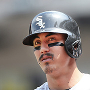 NEW YORK, NEW YORK - June 01: Tyler Saladino #18 of the Chicago White Sox preparing to bat during the Chicago White Sox  Vs New York Mets regular season MLB game at Citi Field on June 01, 2016 in New York City. (Photo by Tim Clayton/Corbis via Getty Images)