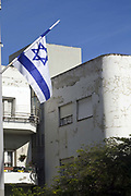 An Art Deco period building in Tel Aviv, Israel<br /> The White City is an unique area of Tel Aviv recognised by UNESCO as architecturally significant World Cultural Heritage site. <br /> Tel Aviv has around 4000 buildings built in the Modernist Bauhaus style by Jewish architects who had studied in Europe.