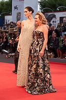 Model Hilary Rhoda and Caroline Scheufeleat the gala screening for the film Spotlight at the 72nd Venice Film Festival, Thursday September 3rd 2015, Venice Lido, Italy.
