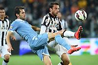 Senad Lulic Lazio, Claudio Marchisio Juventus   <br /> Torino 18-04-2015 Juventus Stadium Football Calcio Serie A 2014/2015 Juventus - Lazio  . Foto Image Sport / Insidefoto