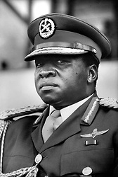 Apr 06, 1972; Kampala, Uganda; The former dictatorial leader of Uganda from 1971-1979, IDI AMIN DADA, has been called 'One of the most batshit loco leaders ever to seize control of a chaotic African nation.' Amin rounded up the military leaders that did not support his coup, murdered them, decapitated them and sat their disembodied heads around the presidential dining table, scolding them for not supporting him, and taking bites of their flesh.' (Credit Image: © Keystone Press Agency/Keystone USA via ZUMAPRESS.com)