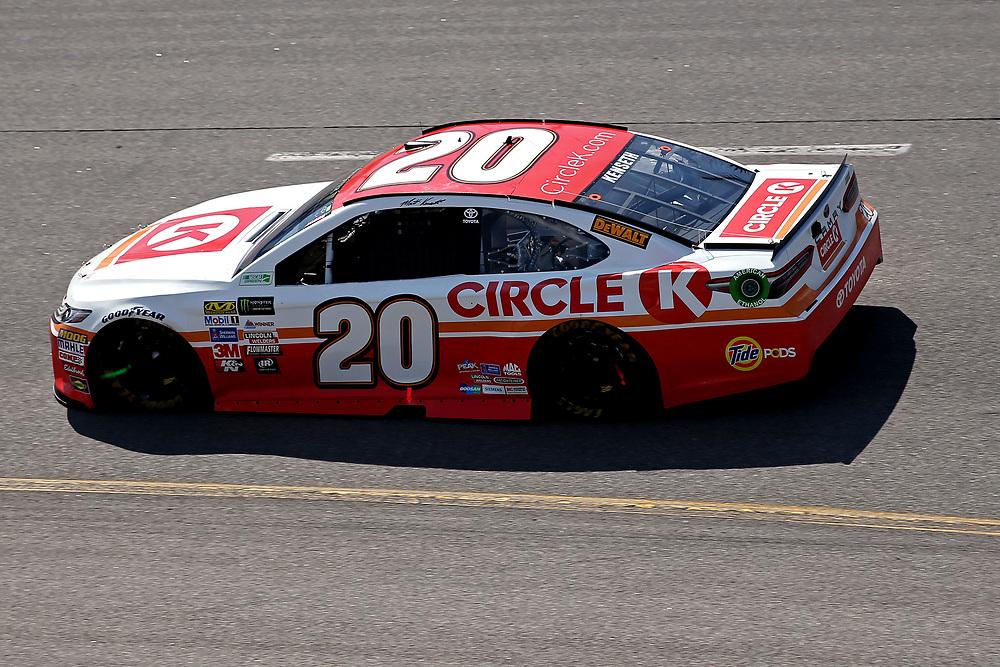 Apr 30, 2017; Richmond, VA, USA; NASCAR Cup Series driver Matt Kenseth (20) during the Toyota Owners 400 at Richmond International Raceway. Mandatory Credit: Peter Casey-USA TODAY Sports