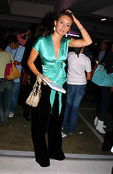 CAMILLA  AL FAYED at Fashion Fringe - part of London fashion week held at the Selfridges Car Park, off Oxford Street, London on 22nd September 2004.<br /><br />NON EXCLUSIVE - WORLD RIGHTS