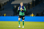 Cameron Dawson of Sheffield Wednesday applauds fans after the EFL Cup match between Sheffield Wednesday and Everton at Hillsborough, Sheffield, England on 24 September 2019.