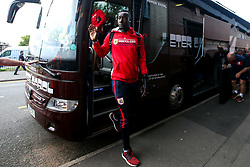 Famara Diedhiou of Bristol City arrives at the Hawthorns for the Sky Bet Championship fixture against West Bromwich Albion - Mandatory by-line: Robbie Stephenson/JMP - 18/09/2018 - FOOTBALL - The Hawthorns - West Bromwich, England - West Bromwich Albion v Bristol City - Sky Bet Championship