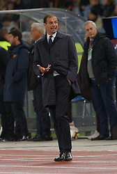 May 12, 2019 - Rome, Italy - Massimiliano Allegri during the Italian Serie A football match between A.S. Roma and Juventus at the Olympic Stadium in Rome, on may 12, 2019. (Credit Image: © Silvia Lore/NurPhoto via ZUMA Press)