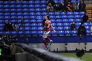 Nottingham Forest's Jamie Paterson celebrates after scoring his sides first goal. Skybet championship match, Bolton Wanderers v Nottingham Forest at the Reebok Stadium in Bolton, England on Saturday 11th Jan 2014.<br /> pic by David Richards, Andrew Orchard sports photography.