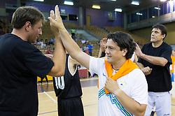 Matjaz Smodis and Zlatko Zahovic during football and basketball charity event All Legends by Olimpiki, on June 9, 2015 in Hala Tivoli, Ljubljana, Slovenia. Photo by Vid Ponikvar / Sportida