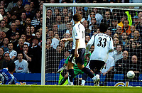 Photo: Ed Godden/Sportsbeat Images.<br /> Chelsea v Tottenham Hotspur. The FA Cup. 11/03/2007.<br /> Chelsea's Frank Lampard (far left) scores to make it 1-1.