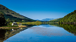 People camping at the shore of Loch Lubhair in the Trossachs, Scotland<br /> <br /> (c) Andrew Wilson   Edinburgh Elite media