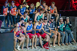 The final players during the last day of the beach volleyball event King of the Court at Jaarbeursplein on September 12, 2020 in Utrecht.