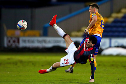 Kieran Lee of Bolton Wanderers is pulled down by Ollie Clarke of Mansfield Town - Mandatory by-line: Ryan Crockett/JMP - 17/02/2021 - FOOTBALL - One Call Stadium - Mansfield, England - Mansfield Town v Bolton Wanderers - Sky Bet League Two
