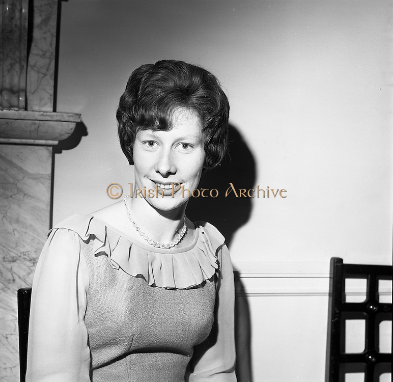 23/11/1964<br /> 11/12/1964<br /> 23 November 1964<br /> <br /> 19 Sales Girls from various parts of Ireland, at a Presentation in the Royal Hibernian Hotel <br /> <br /> Miss Monica Hanley, F. McDonagh, Galway