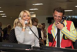 September 11, 2018 - London, London, UK - London, UK.  Holly Willoughby at the 14th Annual BGC Charity Day held on the trading floor of BGC Partners in Canary Wharf, to raise money for charitable causes in commemoration of BGC's 658 colleagues and the 61 Eurobrokers employees lost on 9/11. (Credit Image: © Vickie Flores/London News Pictures via ZUMA Wire)