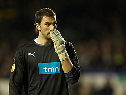 LIVERPOOL, ENGLAND - Tuesday, February 16, 2010: Sporting Clube de Portugal's goalkeeper Rui Patricio during the UEFA Europa League Round of 32 1st Leg match against Everton at Goodison Park. (Photo by: David Rawcliffe/Propaganda)