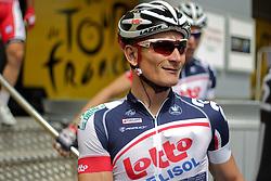 01.07.2012, Luettich, BEL, Tour de France, 1. Etappe Luettich-Seraing, im Bild GREIPEL Andre (LOTTO - Belisol Team) Portrait // during the Tour de France, Stage 1, Liege-Seraing, Belgium on 2012/07/01. EXPA Pictures © 2012, PhotoCredit: EXPA/ Eibner/ Ben Majerus..***** ATTENTION - OUT OF GER *****