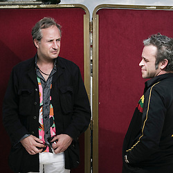 Benda Bilili !'s directors Renaud Barret and Florent de La Tullaye presenting their movie at the 63rd Cannes Film Festival. Quinzaine des Realisateurs / Directors' Fortnight. France. 13 May 2010. Photo: Antoine Doyen