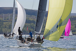 Pelle P Kip Regatta 2019 Day 1<br /> <br /> Light and bright conditions for the opening racing on the Clyde keelboat season<br /> GBR9214R, Jammin, Doug & Alastair Paton, Fairlie Yacht Club, J92
