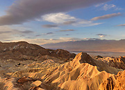 Manley Beacon and Clouds at Dawn from Zabriskie Point, Death Valley National Park, California