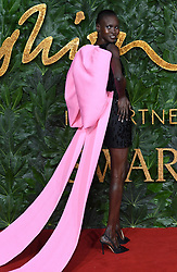 Alek Wek attending the Fashion Awards in association with Swarovski held at the Royal Albert Hall, Kensington Gore, London. Picture Credit Should Read: Doug Peters/EMPICS