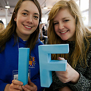 Emma Snook and Molly Avery from Cambridge. The Power of IF was a free event organised by ActionAid and other organisations for the Enough Food for Everyone IF campaign. The event in London invied 16-25yr olds to come together to find out more about the campaign. The event was a mix of inspirational speakers and interactive workshops and was hosted by the British hip hop artist TY.
