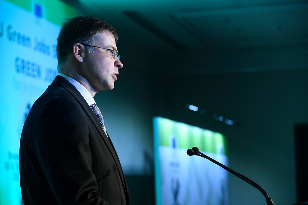 Brussels , Belgium , 30 May 2017 - Green Week 2017 - Green Jobs for a greener future - Green Jobs for Tomorrow, Today - Vice President Valdis Dombrovskis, European Parliament <br /> © EU - Patrick Mascart