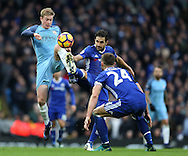 Kevin De Bruyne of Manchester City tackles Cesc Fabregas of Chelsea during the Premier League match at the Etihad Stadium, Manchester. Picture date: December 3rd, 2016. Pic Simon Bellis/Sportimage