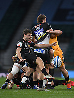 Rugby Union - 2019 / 2020 Gallagher Premiership - Final - Wasps vs Exeter Chiefs - Twickenham<br /> <br /> Exeter Chiefs' Jack Maunder puts in a clearance kick.<br /> <br /> COLORSPORT/ASHLEY WESTERN