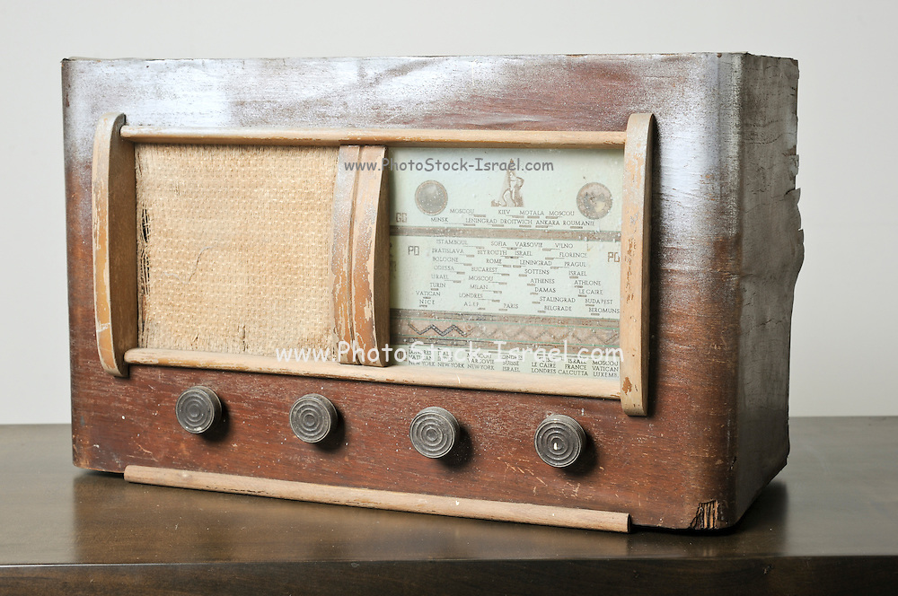 Cutout of an Israeli made BenGal radio receiver on white background