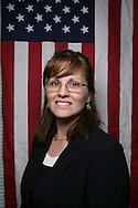 12th September 2008, Wasilla, Alaska. Sarah Palin look-a-like Karen Farnsworth at a rally for Alaskan Governor, Sarah Palin. Palin is the US Republican Vice Presidential pick. PHOTO © JOHN CHAPPLE / REBEL IMAGES.tel: +1-310-570-910