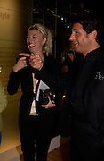 Tamara Beckwith and George Veroni, Party hosted by Alexandra Shulman, Rupert Hambro and Prof  Jack Lohman to open 'The London Look, Fashion from Street to Catwalk', Museum of London. ONE TIME USE ONLY - DO NOT ARCHIVE  © Copyright Photograph by Dafydd Jones 66 Stockwell Park Rd. London SW9 0DA Tel 020 7733 0108 www.dafjones.com