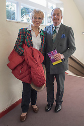 © Licensed to London News Pictures. 27/02/2015. Margate, UK . Christine and Neil Hamilton. The UKIP spring conference at Margate Winter Gardens 27th February 2015. Photo credit : Stephen Simpson/LNP