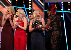 England Netball on stage after winning the Team of the Year Award during the BBC Sports Personality of the Year 2018 at Birmingham Genting Arena.