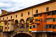 The famous Ponte Vecchio bridge in Florence, Tuscany, Italy.