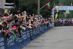 Megan Gaurnier of USA wins the UCI Women's World Tour Philadelphia Cycling Classic on Sunday June 5th, 2016. Pro-cyclist compete at a 73.8miles/118.7km course in Philadelphia Pennsylvania