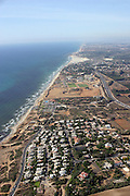 aerial photography of Israel coastline north of Tel Aviv, Israel