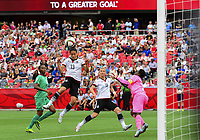 Fotball<br /> VM kvinner<br /> 07.06.2015<br /> Tyskland v Elfenbenskysten<br /> Foto: imago/Digitalsport<br /> NORWAY ONLY<br /> <br /> June 07, 2015: Midfielder Celia Sasic ( 13) of Germany heads in the second goal for Germany in the first half during the FIFA 2015 Women s World Cup Group B match between Germany and Ivory Coast at Lansdowne Park in Ottawa, Canada