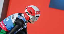 30.01.2016, Normal Hill Indiviual, Oberstdorf, GER, FIS Weltcup Ski Sprung Ladis, Bewerb, im Bild Eva Pinkelnig (AUT) // Eva Pinkelnig of Austria reacts after her Competition Jump of FIS Ski Jumping World Cup Ladis at the Normal Hill Indiviual, Oberstdorf, Germany on 2016/01/30. EXPA Pictures © 2016, PhotoCredit: EXPA/ Peter Rinderer