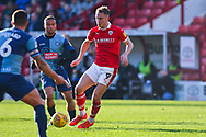 Cauley Woodrow of Barnsley (9) in action during the EFL Sky Bet League 1 match between Barnsley and Wycombe Wanderers at Oakwell, Barnsley, England on 16 February 2019.