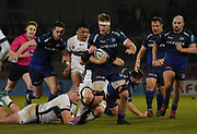 Sale Sharks second-row Jean-Luc Du Preez makes a break during a Gallagher Premiership Rugby Union match, won by Sharks 39-0, Friday, Mar. 6, 2020, in Eccles, United Kingdom. (Steve Flynn/Image of Sport)