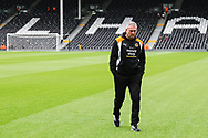 Paul Lambert, manager of Wolverhampton Wanderers walking the pitch before the Sky Bet Championship match at Craven Cottage, London<br /> Picture by Richard Brooks/Focus Images Ltd 07947656233<br /> 18/03/2017
