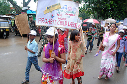 """June 11, 2017 - Guwahati, India - Children participating in a mass awareness campaign against employment of child labour on the day of """"World Day against Child Labour"""", organized by Kamrup Metro District administration in Guwahati on Monday, June 12, 2017. .Peoples participating in a mass awareness campaign against employment of child labour on the day of """"World Day against Child Labour"""", organized by Kamrup Metro District administration in Guwahati on Monday, June 12, 2017. (Credit Image: © Rajib Jyoti Sarma/Pacific Press via ZUMA Wire)"""