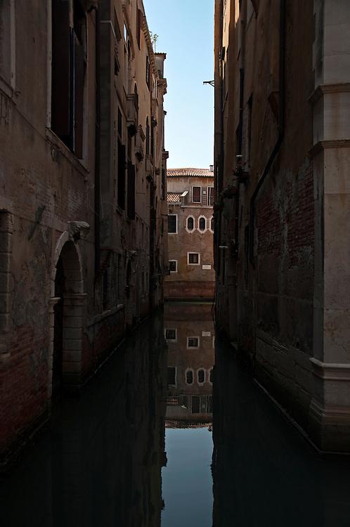 Reflection of a Venetian house.