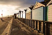 Bournemouth Beach in Dorset around sunset