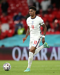England's Marcus Rashford during the UEFA Euro 2020 Group D match at Wembley Stadium, London. Picture date: Tuesday June 22, 2021.