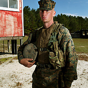 PVT Jimmy Potts of Charlie Company, Infantry Training Battalion at the School of Infantry East during K406 Shooting Marksmanship Training Exercises.