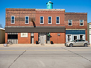 30 APRIL 2020 - STANHOPE, IOWA: Stanhope Locker and Market, in Stanhope, Iowa. The family owned meat locker slaughters and butchers beef cattle, pigs, and sheep. The COVID-19 (SARS-CoV-2/Coronavirus) pandemic has spread among employees in the meat packing plants in the Iowa, Nebraska, South Dakota, and Minnesota, forcing many to close or curtail operations. This has resulted in farmers euthanizing thousands of pigs and beef cattle. Pork production has been slashed by about 40% because of the pandemic. Meat lockers and family owned butchering facilities have been swamped with farmers and ranchers trying to sell their livestock to them rather than the meat packing plants, but the meat lockers are backed up by the huge increase in supply. Many meat lockers are now full through the end of the year. Stanhope Locker and Market doesn't have any openings for slaughtering and butchering either cattle or pigs until mid-December 2020.         PHOTO BY JACK KURTZ